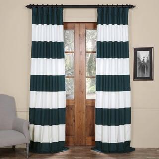 Exclusive Fabrics Cabana Cotton 108-inch Horizontal Stripe Curtain Panel