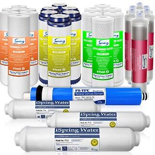 iSpring F28K75 3-Year Replacement Filter 28-piece Set for 6-stage Alkaline Reverse Osmosis Water Filter Fits RCC7AK RCC7PAK