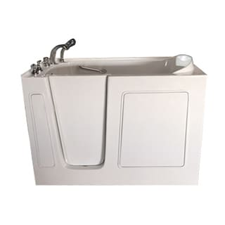 Value Life Right 60-inch Air-jetted Walk-in Tub with Contoured Heated Backrest