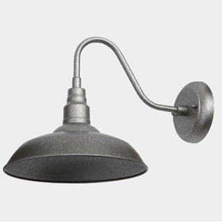 Outdoor Wall Light Lora Silvertone Metal Exterior Light