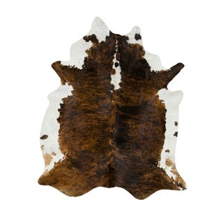 Handmade Dark Tri-color Special Cow Hide Rug (Brazil)