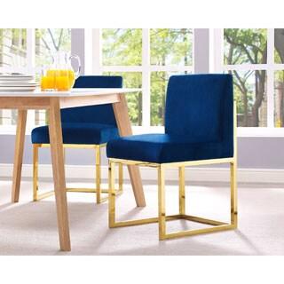 Haute Navy Velvet Chair