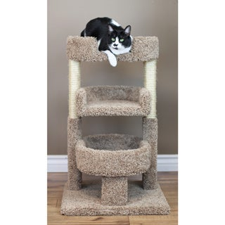 New Cat Condos 33 inch Round Triple Cat Tree