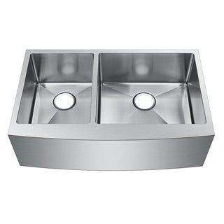 Starstar Stainless Steel Double-bowl Farmhouse Apron Undermount Kitchen Sink