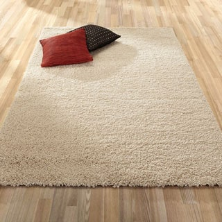 Ottomanson Ultra Shag Collection Solid Design High Pile Indoor Area Rug (7'10 x 9'10)