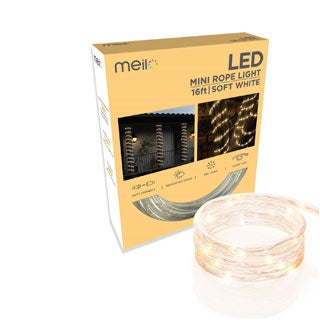 Meilo 16 ft. True-Tech LED Mini Rope Light with 360-degree Directional Shine (More options available)