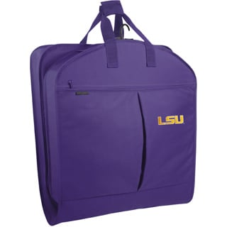WallyBags Purple Polyester 40-inch LSU Tigers Garment Bag with Pockets