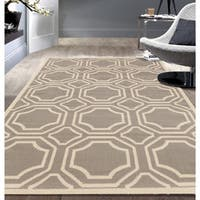 Modern Geometric Grey Area Rug - 7'6 x 9'5