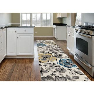 Contemporary Yellow/ Blue Floral Beige Runner Rug (2' x 7'2)|https://ak1.ostkcdn.com/images/products/P18924496a.jpg?impolicy=medium