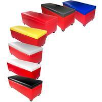 The Sole Secret Retro Red Vinyl Shoe Storage Bench