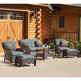 Oliver & James Jauslin 6-piece Ocean Blue Outdoor Lounge Set