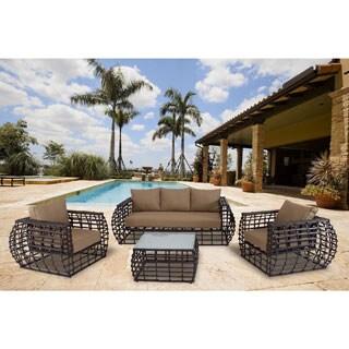 Hanover Outdoor Soho 4-piece Contemporary Lounge Set