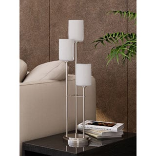 Bess Frosted Glass 3-light Table Lamp