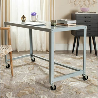 Safavieh Bentley Modern Wheeled Grey Desk