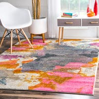 nuLOOM Abstract Vintage Fancy Multi Rug (6'7 x 9') - 6'7 x 9'