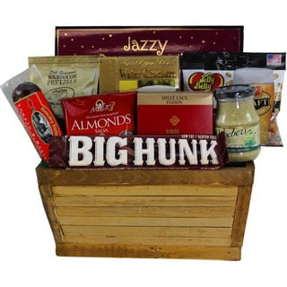 Manly Man's Meat and Snack Food Gift Basket