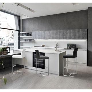 Denmark Black Stainless Steel/Polypropylene Barstools (Set of 2)