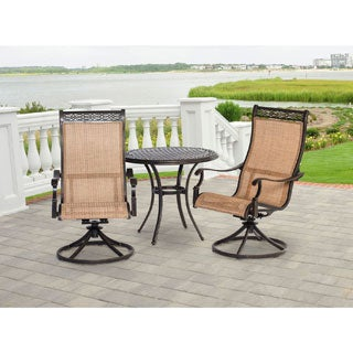 Hanover Outdoor MANDN3PCSW-BS Manor 3-Piece Bistro Dining Set