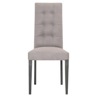 Mila Grey Fog Acrylic/Fabric Dining Chairs (Set of 2)