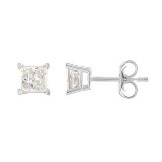 14K Diamond Stud Earring White gold (1/2cttw H-I Color, I2 Clarity) - White H-I