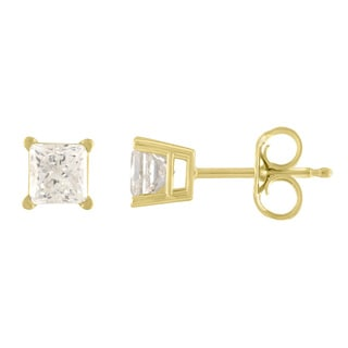 10K Diamond Stud Earring Yellow gold (1/6cttw H-I Color, I2 Clarity)