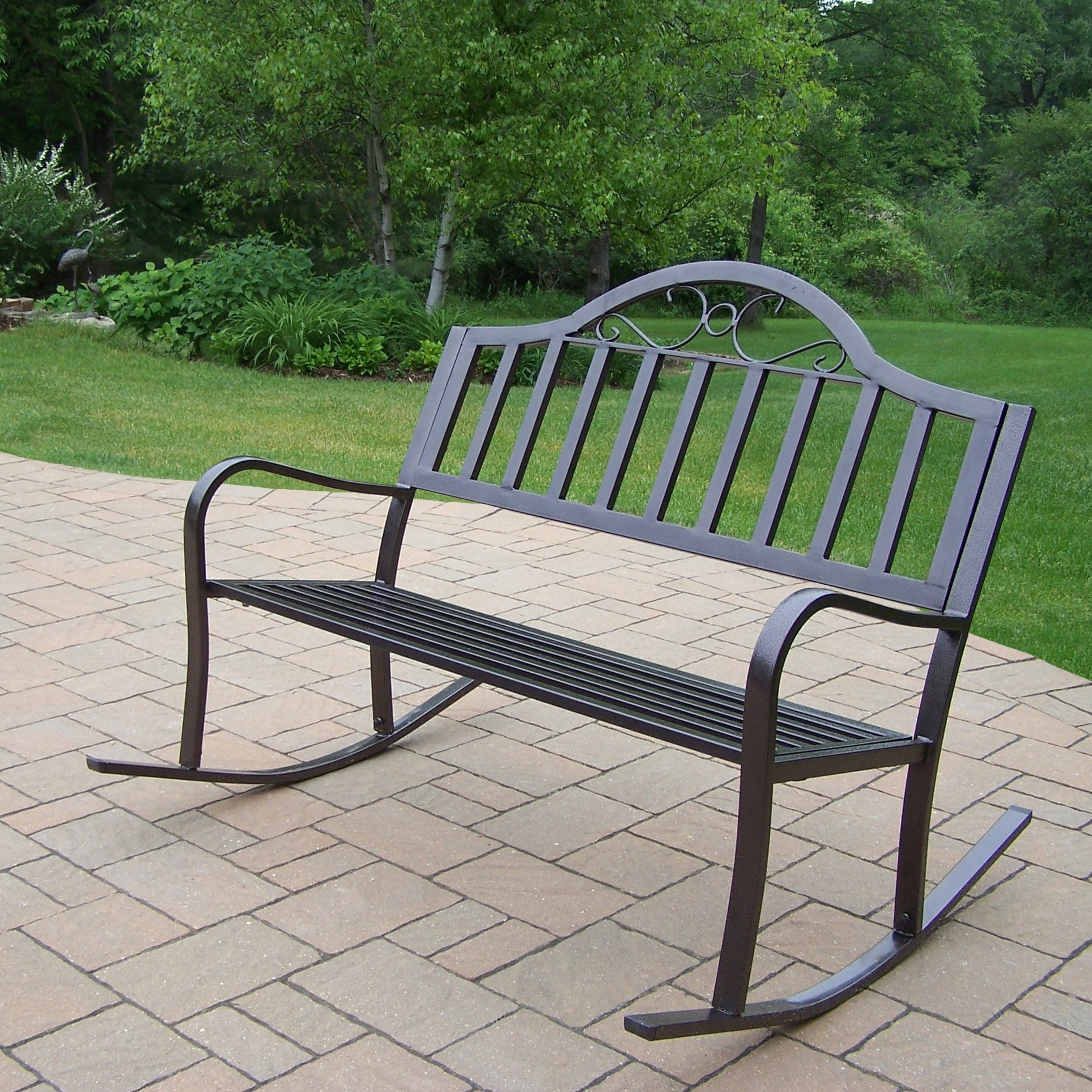 Hometown Extruded Iron Rocking Bench