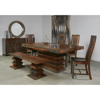 Christopher Knight Home Olive Grey Sheesham Dining Table