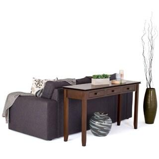 WYNDENHALL Stratford Auburn Brown Wide Console Sofa Table