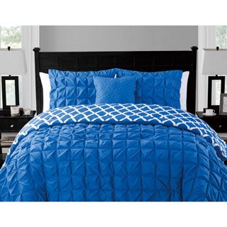 VCNY Scottsdale 4-piece Box Pleat Reversible Comforter Set