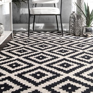 nuLOOM Handmade Wool Abstract Fancy Pixel Trellis Area Rug (4' x 6')