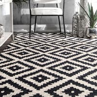 nuLOOM Handmade Wool Abstract Fancy Pixel Trellis Area Rug - 4' x 6'