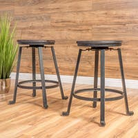 Lolita 24-inch Rustic Iron Counter Stool (Set of 2) by Christopher Knight Home