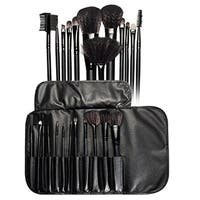 Zodaca Professional Cosmetic Makeup Brush Set with Rollup Leather Pouch Bag (Set of 12)