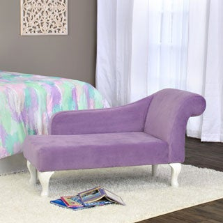 HomePop Diva Juvenile Accent Chair Lavender