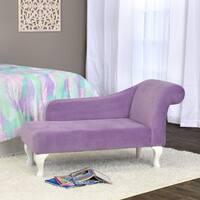 HomePop Diva Juvenile Accent Chair Lavender