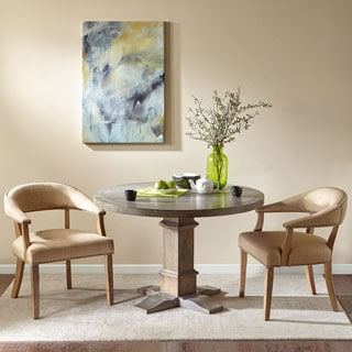 Madison Park Ansen Reclaimed Grey Round Table with Graham Base
