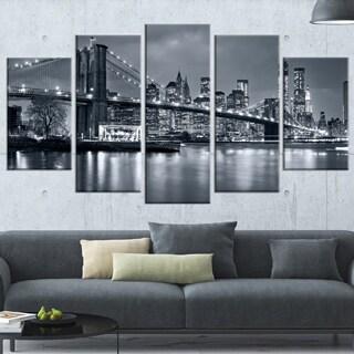 Panorama New York City at Night - Cityscape Canvas print