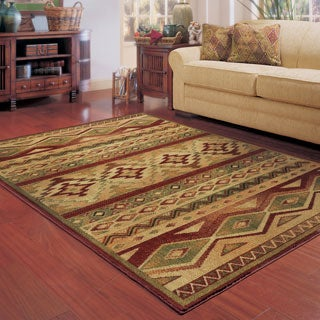 Style Haven Nash South West Tribal Brown/Red Rug (7'8 x 10'10)