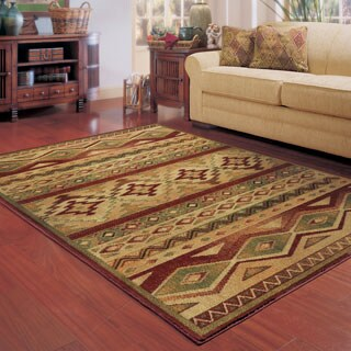 Style Haven Nash South West Tribal Brown/Red Rug - 7'8 x 10'10