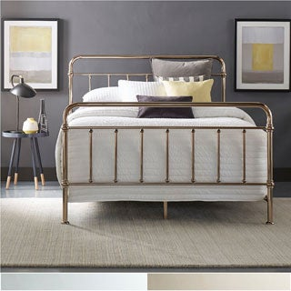 Giselle Graceful Lines Victorian Metallic King-sized Metal Bed by iNSPIRE Q Bold