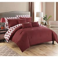 Chic Home Stein Diamond 10-Piece Bed In a Bag with Sheet Set