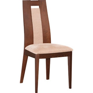 Global Furniture Burnt Beech Wood Microfiber Dining Chair