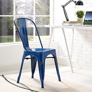 Metal Navy Blue Cafe Chair