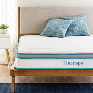 LINENSPA 8-inch Twin Memory Foam and Spring Mattress