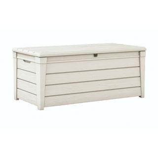 Keter Brightwood 120-gallon Outdoor Garden White Resin Patio Storage Deck Box