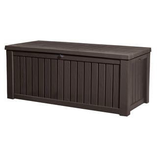 Keter Rockwood 150-gallon Brown Plastic Outdoor Deck Storage Container
