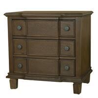 LYKE Home Enzo Brown 3-drawer Nightstand