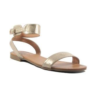 VANESSA Gold Classic Ankle Strap Sandal