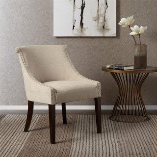 Madison Park Heidi Cream Roll Back Accent Chair