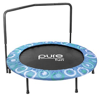 Pure Fun Super Jumper Kids Blue Mini Trampoline